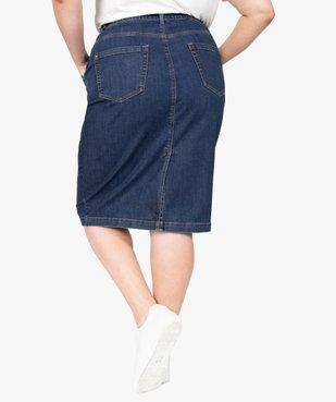 Jupe femme en jean longueur genou vue3 - GEMO (G TAILLE) - GEMO