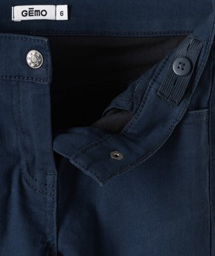 Pantalon fille coupe Slim uni vue2 - GEMO (ENFANT) - GEMO