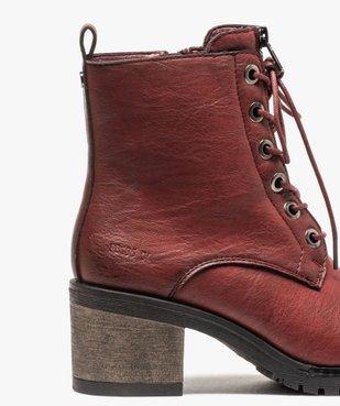 Boots femme unies à talon carré et zip décoratif vue6 - GEMO(URBAIN) - GEMO