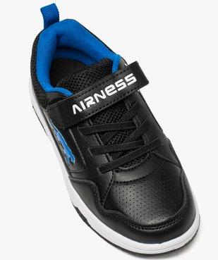 Baskets garçon effet perforé à lacets élastiques - Airness vue5 - AIRNESS - GEMO