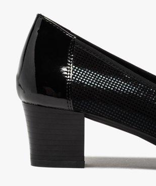 Escarpins femme confort à talon et bout verni vue6 - GEMO(URBAIN) - GEMO