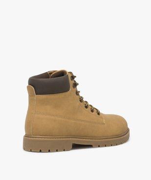Boots homme à semelle crantée et lacets - Les Supaires à col contrastant et lacets bicolores vue4 - GEMO (CASUAL) - GEMO