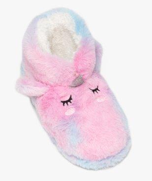 Chaussons fille boots en forme de licorne vue5 - GEMO (ENFANT) - GEMO