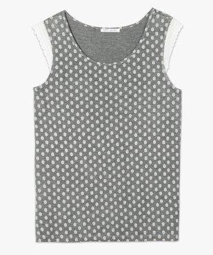 Haut de pyjama femme grande taille à mancherons dentelle vue4 - GEMO(HOMWR FEM) - GEMO