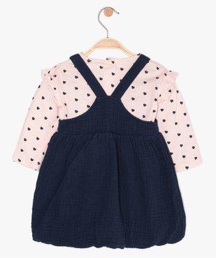 Ensemble bébé fille 2 pièces : robe + tee-shirt manches longues vue2 - GEMO(BEBE DEBT) - GEMO