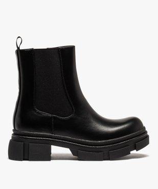 Boots femme unies style rock à semelle plateforme crantée vue1 - GEMO (CASUAL) - GEMO