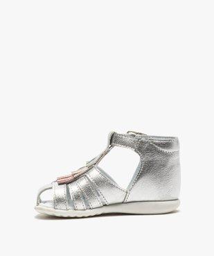 Sandales premiers pas bébé fille avec franges métallisées vue3 - Nikesneakers(BEBE DEBT) - Nikesneakers