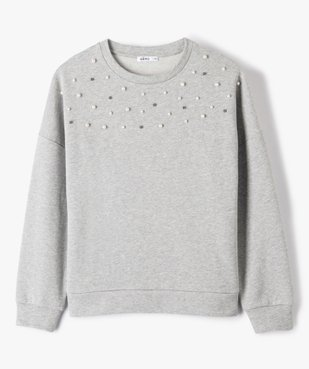 Sweat fille coupe loose à perles vue1 - Nikesneakers (JUNIOR) - Nikesneakers