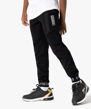 Pantalon de jogging garçon avec zips fantaisie sur l'avant vue1 - GEMO (ENFANT) - GEMO