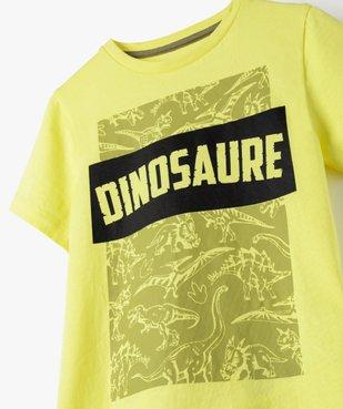 Tee-shirt garçon à manches courtes imprimé dinosaure vue2 - GEMO (ENFANT) - GEMO