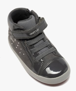 Baskets bébé fille à lacets et scratch - Geox vue5 - GEOX - GEMO