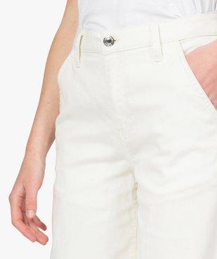 Pantalon femme en toile épaisse coupe Flare vue2 - GEMO(FEMME PAP) - GEMO
