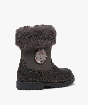 Boots fille zippés à col rembourré – La Reine des Neige vue4 - REINE DES NEIGE - GEMO