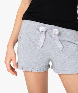 Short de pyjama femme imprimé à petits volants dans le bas vue2 - Nikesneakers(HOMWR FEM) - Nikesneakers