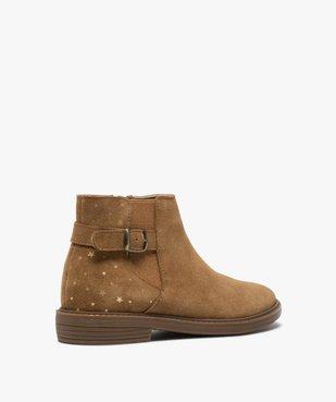 Boots fille style chelsea dessus cuir avec motif étoiles vue4 - GEMO (ENFANT) - GEMO