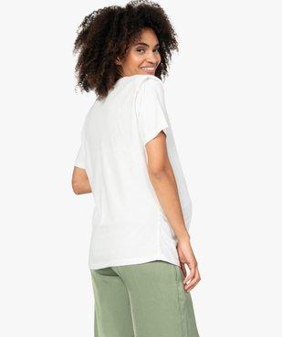 Tee-shirt de grossesse à épaulettes vue3 - GEMO (MATER) - GEMO