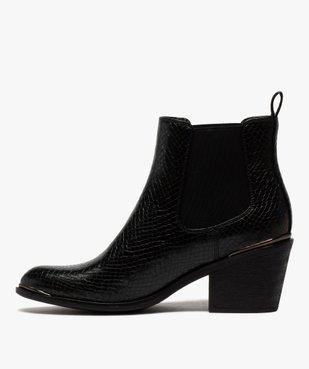 Boots femme à talon style chelsea unis vue3 - GEMO(URBAIN) - GEMO