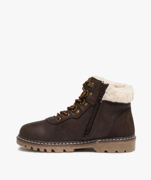 Boots garçon style chaussures de montagne à col sherpa vue3 - GEMO (ENFANT) - GEMO