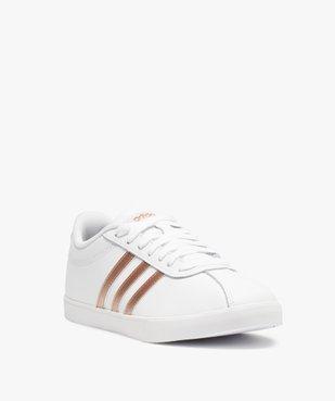 Baskets femme bicolores à lacets – Adidas Courtset vue2 - ADIDAS - Nikesneakers