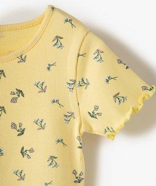 Tee-shirt fille en maille côtelée avec finitions froncées vue2 - Nikesneakers C4G FILLE - Nikesneakers