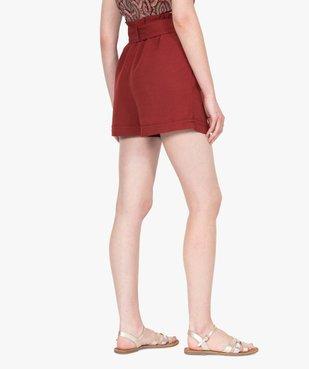 Short femme ample à ceinture vue3 - GEMO(FEMME PAP) - GEMO