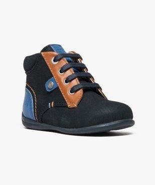 Chaussures bébé garçon semi-montantes dessus cuir - Absorba vue2 - ABSORBA - GEMO