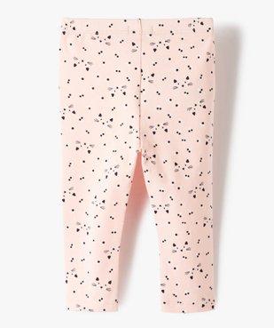 Legging bébé fille long en coton stretch vue3 - GEMO C4G BEBE - GEMO