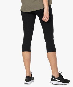 Legging femme court en coton stretch vue3 - GEMO(FEMME PAP) - GEMO