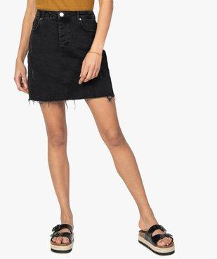 Jupe femme en jean aspect usé vue1 - GEMO(FEMME PAP) - GEMO