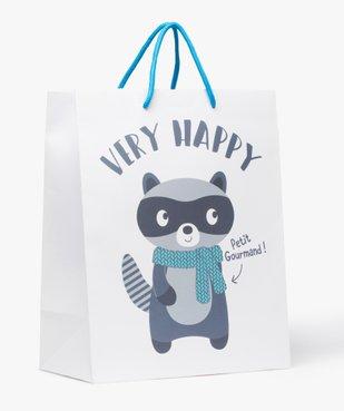 Pochette cadeau bébé avec motif raton-laveur vue1 - GEMO C4G BEBE - GEMO