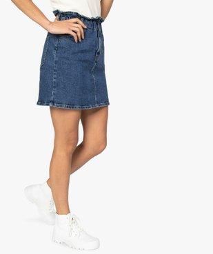 Jupe femme en jean avec taille froncée vue1 - GEMO(FEMME PAP) - GEMO