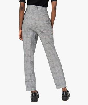 Pantalon femme à motif Prince de Galles taille haute vue3 - GEMO(FEMME PAP) - GEMO