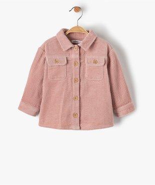 Chemise bébé fille en velours à grosses côtes vue1 - GEMO(BEBE DEBT) - GEMO