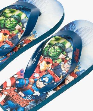Tongs garçon avec semelle imprimée Marvel Avengers vue3 - AVENGERS - GEMO