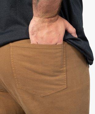 Pantalon homme coupe Straight en toile épaisse vue2 - GEMO (G TAILLE) - GEMO