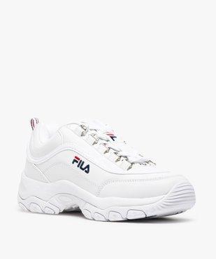 Baskets Dad shoes* femme à lacets et passants métallisés - Fila Strada Low vue2 - FILA - Nikesneakers
