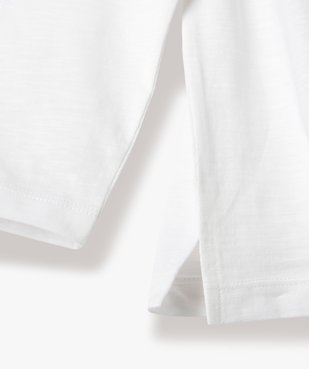 Tee-shirt garçon à manches longues et col tunisien vue3 - GEMO C4G GARCON - GEMO