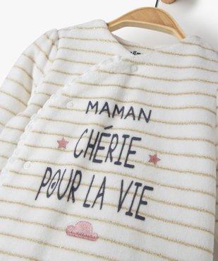 Pyjama bébé en velours à rayures brillantes vue2 - Nikesneakers(BB COUCHE) - Nikesneakers
