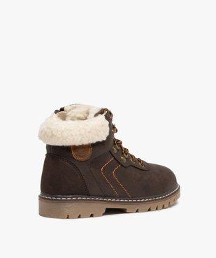 Boots garçon style chaussures de montagne à col sherpa vue4 - GEMO (ENFANT) - GEMO