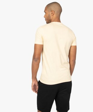 Tee-shirt homme à manches courtes et col V coupe slim vue3 - GEMO (HOMME) - GEMO