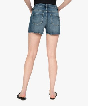 Short femme en jean aspect usé vue3 - GEMO(FEMME PAP) - GEMO