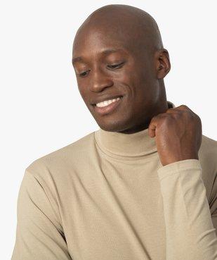 Tee-shirt homme à large col roulé coupe slim vue2 - GEMO (HOMME) - GEMO