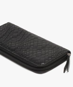 Portefeuille femme en matière texturée vue2 - GEMO (ACCESS) - GEMO