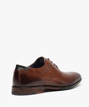 Derbies homme dessus et intérieur cuir avec col perforé vue4 - Nikesneakers(URBAIN) - Nikesneakers