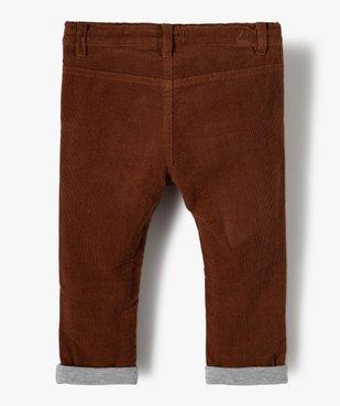 Pantalon bébé garçon en velours doublé jersey vue4 - Nikesneakers(BEBE DEBT) - Nikesneakers