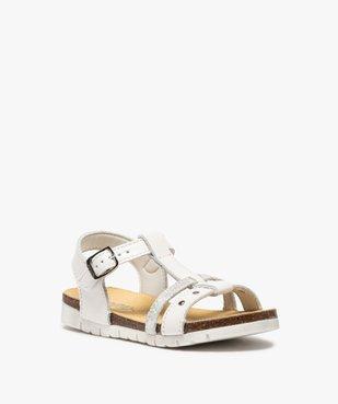 Sandales fille dessus cuir à semelle contrastante - Bopy vue2 - BOPY - GEMO