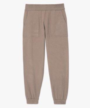Pantalon femme en maille resserré aux chevilles vue4 - GEMO(FEMME PAP) - GEMO