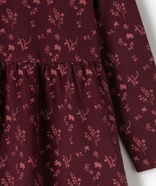 Robe fille à manches longues en maille à motifs fleuris vue2 - Nikesneakers C4G FILLE - Nikesneakers