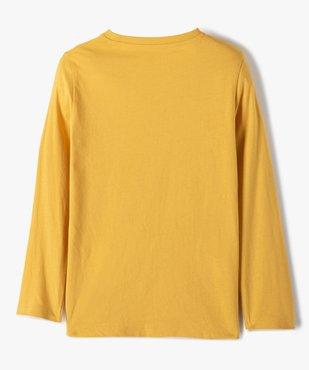 Tee-shirt garçon à manches longues avec motif floqué vue3 - GEMO C4G GARCON - GEMO
