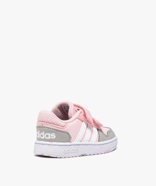 Baskets bébé fille multicolores à scratch – Adidas Hoops vue4 - ADIDAS - Nikesneakers